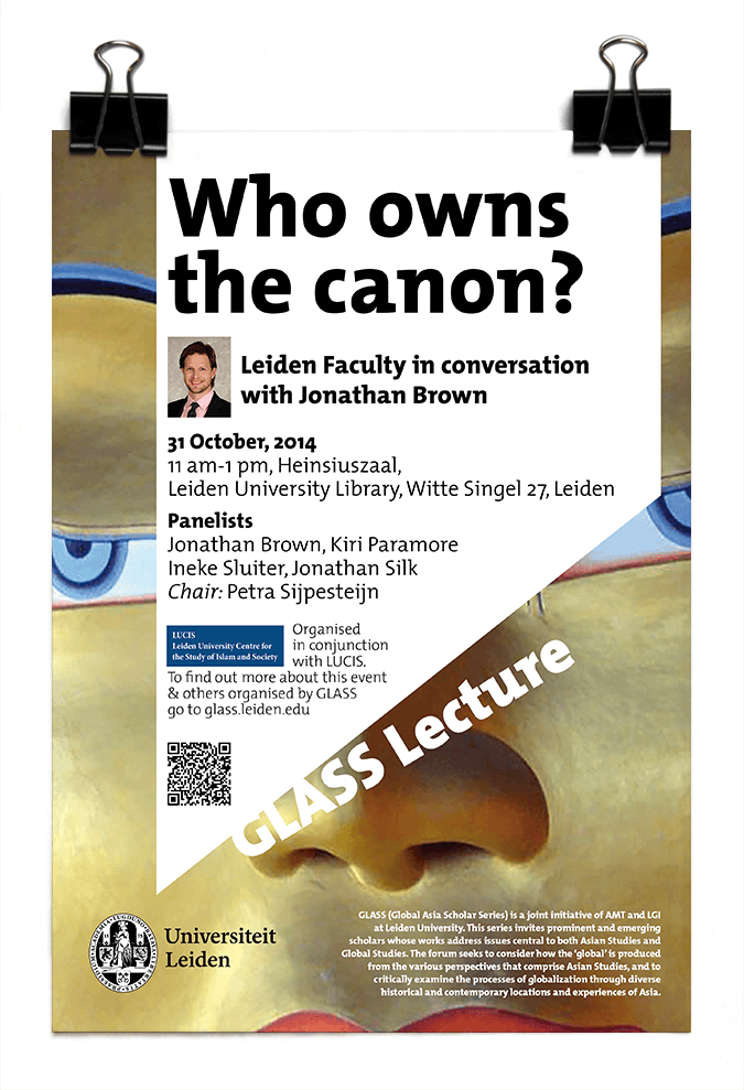 Dr Johnathan Brown - GLASS Lecture - Who Owns the Canon? - Leiden University