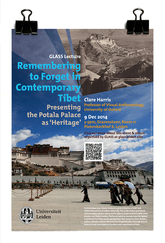GLASS Lecture 2014 - Prof. Clare Harris - Pitt Rivers Museum, Oxford University - Remembering to Forget in Contemporary Tibet - Leiden University