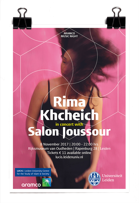 LUCIS 2017 Aramco Music Night - Rima Khcheich in concert with Salon Joussour - Rijksmuseum van Oudheden