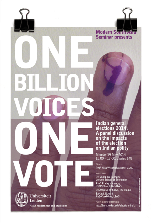 Modern South Asia Seminar: One Billion Voices, One Vote - Indian general elections 2014